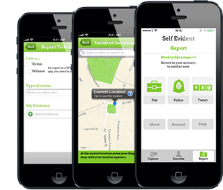 Report crime with the Self Evident app