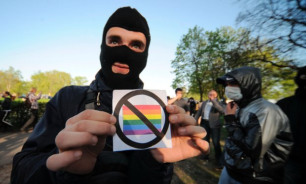 anti gay rights protester